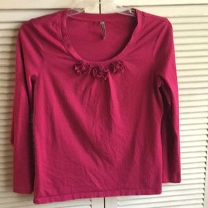 Hanna Andersson knit top Rose szL